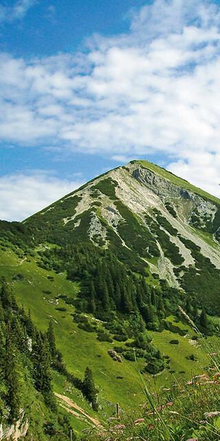 Blick auf den Geigelstein. Foto: Touristik Information Schleching, Stefan Kattari