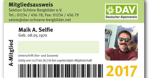 Mitgliedsausweis 2017