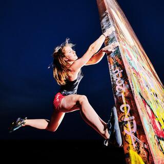 Franziska Ritter posiert für die Ruhr Games, unter deren Dach das Klettern ausgetragen wird; Foto: Christoph Maderer