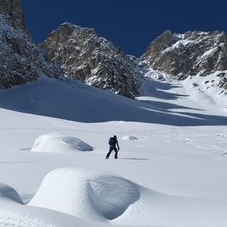 Die Roascharte auf 2617 Metern ist ein weiteres lohnendes Skitourenziel. Foto: Stefan Herbke