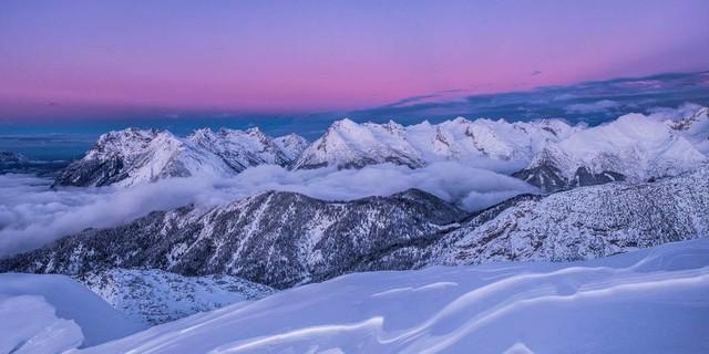Blick von der Seefelder Spitze ins Karwendel. Foto: Heinz Zak