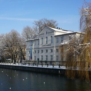 Frontalansicht Alpines Museum. Plan: Michael Feil