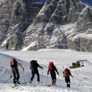 Skitour in den Berchtesgadener Alpen (Foto: Bergsteigerdorf Ramsau/F. Rasp)
