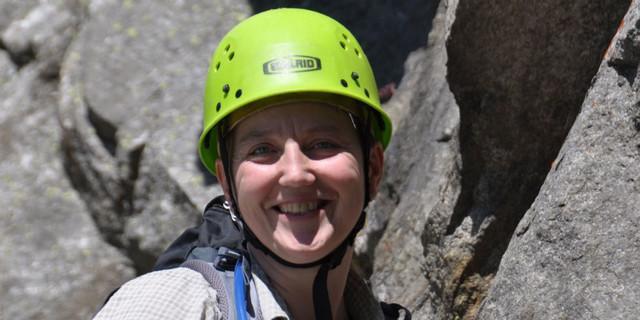 Katja Manger auf Bergtour