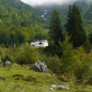 In bezaubernder Lage im Wilden Kaiser - die Gaudeamushütte, Foto: Sektion Main-Spessart