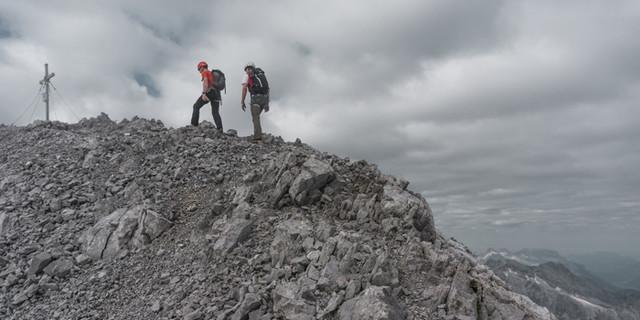 Kurz vor dem Gipfel der Südspitze
