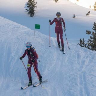 Anna-Maria Michel (vorn) und Sophia Weßling beim Individual im Martelltal - Foto: Nils Lang