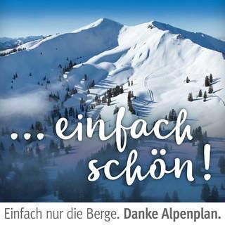 """Kampagne """"Danke Alpenplan"""". Riedberger Horn. Foto: Jörg Bodenbender"""