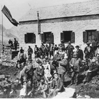 Einweihung der Greizer Hütte 1893, Foto: DAV Sektion Greiz