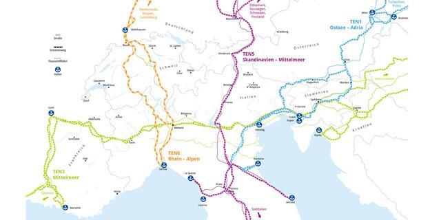 Karte Transeuropäisches Netz - Grafik: Marmota Maps