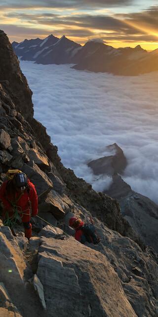 Last but not least: bei Sonnenaufgang aufs Matterhorn. Foto: privat