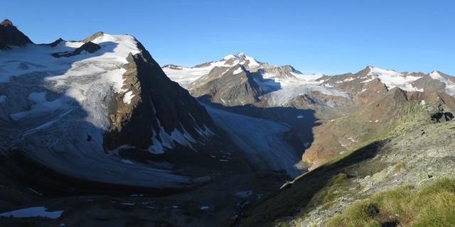 Ausblick auf die Gletscherwelt im Pitztal. Foto: Werner Flörl/ÖAV/alpenvereinaktiv.com