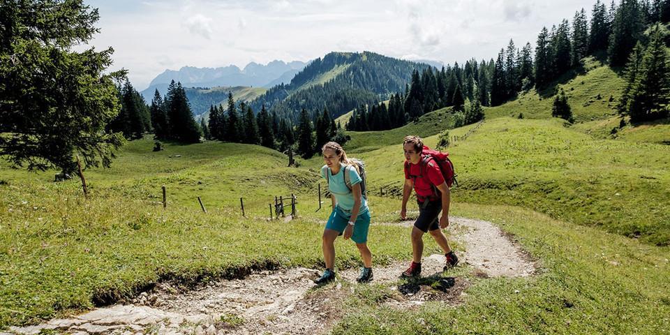 Auf dem Weg zum Geigelstein. Foto: DAV/Hans Herbig