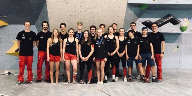 Die Deutsche Jugendmannschaft. Foto: DAV/Jonas Baumann