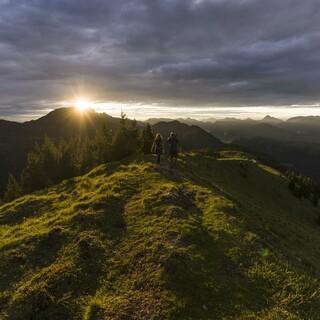 Sonnenaufgang am Hirschhörnlkopf Foto: Wolfgang Ehn