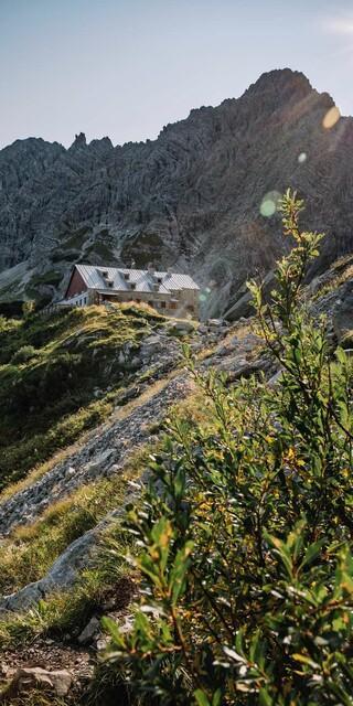 Das Prinz-Luitpold-Haus in den Allgäuer Alpen, Foto: Martin Erd