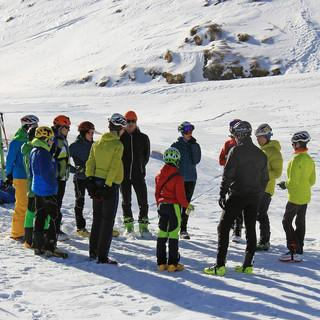 Aufmerksames Publikum bei den On-snow sessions