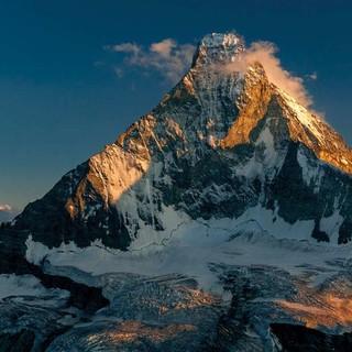Blick auf die Nordwand des Matterhorns, Foto: Ralf Gantzhorn