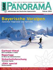 DAV Panorama 1/2003 Bayerische Voralpen