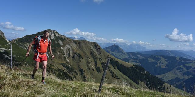 Etappe zwei: Ab der Jufenhöhe verlässt man den Pistenzirkus und ist allein. Foto: Andi Dick