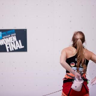 Hannah Meul im Lead-Finale. Foto: Stepan Chaporov
