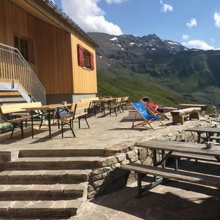 Terrasse Kaltenbergerhütte, Foto: M. Kegele