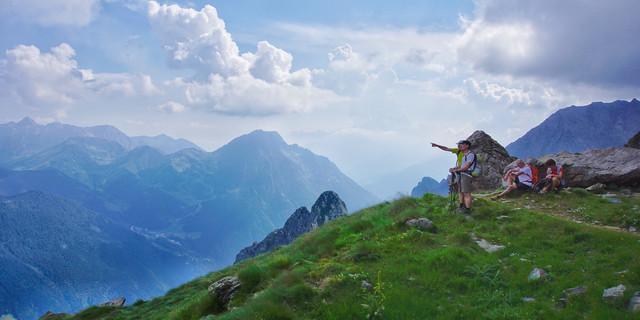 "Rastplatz ""Sponda Arsena (2325 m) auf dem Weg zum Rifugio Curò. Foto: Joachim Chwaszcza"