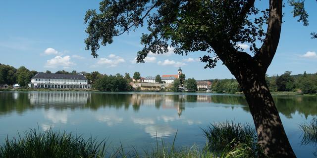 Am Burgsee im thüringischen Bad Salzungen. Foto: Christof Herrmann