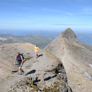 Kempsenkopf - Bergsteiger am Hohen Tenn&#x3B; vom Kempsenkopf nach rechts geht der Weiterweg.