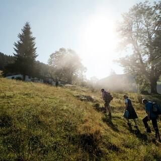 Auf dem Weg zur Priener Hütte. Foto: DAV/Hans Herbig