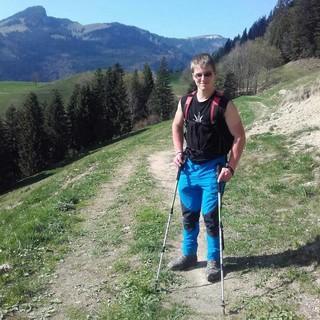 Korbinian Franck ist gerne in den Bergen unterwegs, Foto: Privat