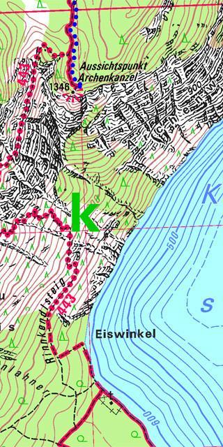 Die BY-Karten zeichnen sich durch ein genaues Relief, Schutzzonen sowie Sommer- und Winterwege aus.
