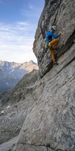 Klettern an der Aiguille Dibona. Foto: DAV / Silvan Metz