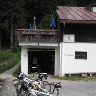 Mountainbikeparkplatz an der Lenggrieser Huette