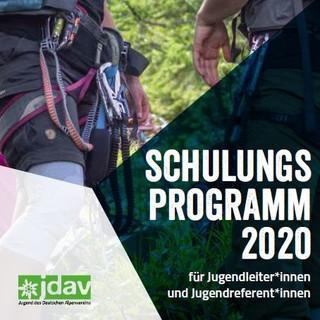 JDAV Schulungsprogramm 2020 web Cover