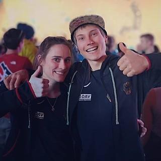 Afra Hönig und Alex Megos. Foto: DAV