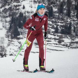 Antonia Niedermaier läuft zu ihrem ersten Weltcupsieg. Foto: ISMF/Maurizio Torri