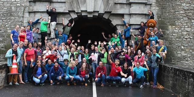 Zufriedene Teilnehmer*innen bei der JuRef-Tagung 2018, Foto: JDAV/Simon Keller
