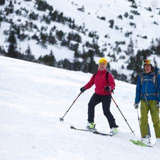 Verena Bentele mit Bergführer Tom Listle © DAV/Marco Kost