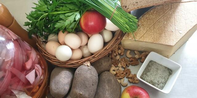Zutaten für den Kartoffelstampf, Foto: Rosa Lohrmann