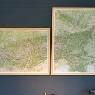 Alpen Reliefkarten 3D Relief - gesamter Alpenbogen