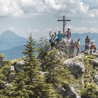 Am Gipfel angekommen - mit A.L.M., Foto: DAV/Klaus Listl