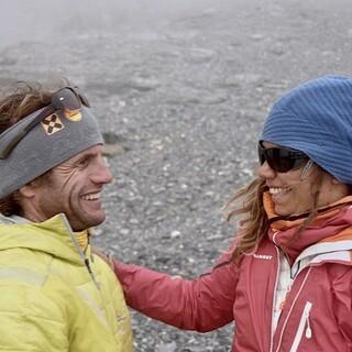 Zufälliges Treffen am Eiger: Roger Schäli und Caro North. Foto: Jochen Schmoll
