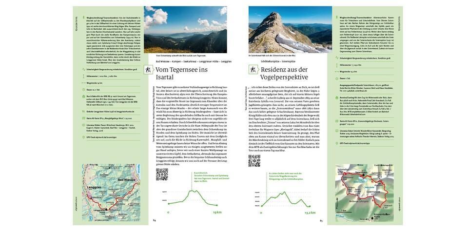 Die Tourentipps sind dank QR-Codes nun auch einfach online abrufbar. Foto: Alpenverein München & Oberland