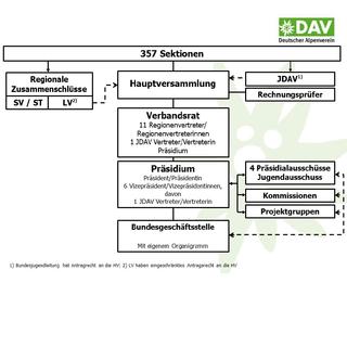 Organigramm DAV