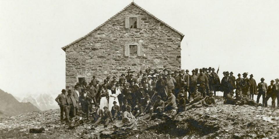 Einweihung der Alten Essener Hütte, 1903. Archiv des DAV, München