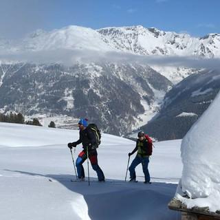 Unterwegs zwischen Thurntaler zum Marchkinkele, Blick auf die Villgratner Berge. Foto: Stefan Herbke