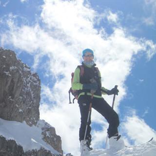 Ifen über dem Hahnenköpfle - Nee, nicht Dolomiten… Steil stotzt der Gipfelaufbau des Ifen über dem Hahnenköpfle.