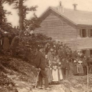 Eröffnung des Hochgründeckhaus, 1888. Archiv des DAV, München