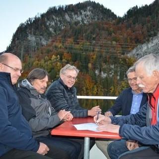 Unterzeichnung Kletterkonzept Kochel